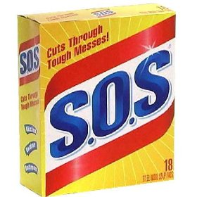 SOS Steel Wool Soap Pads 18CT Box