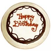 Store Bakery 8 Inch Round Birthday Cake Chocolate Cake White Icing