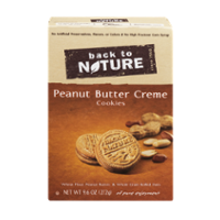 Back To Nature Cookies Peanut Butter Creme Sandwich 9.6oz PKG