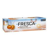 Fresca Peach Citrus Soda 12 Pack of 12oz Cans