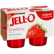 Jell-O Gelatin Snacks Strawberry 4CT