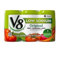 V8 100% Vegetable Juice Low Sodium 5.5oz. EA 6PK