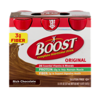 Boost Nutritional Drink Original Rich Chocolate 8oz EA 6PK
