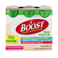 Boost Nutritional Drink High Protein Creamy Strawberry 8oz EA 6PK