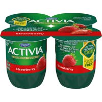 Dannon Activia Probiotic Yogurt Strawberry 4oz EA 4PK product image