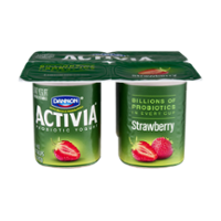 Dannon Activia Probiotic Yogurt Strawberry 4oz EA 4PK product image