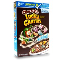 General Mills Lucky Charms Cereal Chocolate 12oz Box