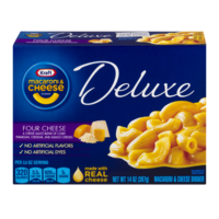 Kraft Deluxe Macaroni & Cheese Dinner Four Cheese 14oz PKG