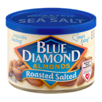 Blue Diamond Almonds Roasted Salted 6oz Can
