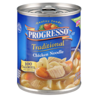 Progresso Traditional Soup Chicken Noodle w White Meat 19oz. Can product image