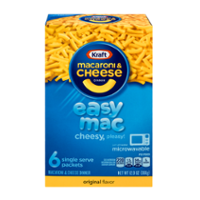 Kraft Easy Mac Original Macaroni & Cheese Dinner 6CT 12.9oz Box