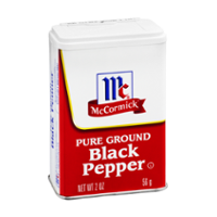 McCormick Black Pepper Ground 1.5oz Can