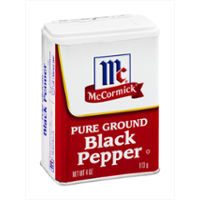 McCormick Black Pepper, Ground 4oz. Can
