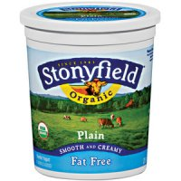 Stonyfield Farm Fat Free Plain Yogurt 32oz Tub