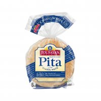 Toufayan White Pita Bread 6CT PKG