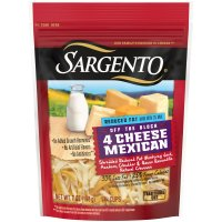 Sargento Reduced Fat 4 Cheese Mexican Shredded Cheese 8oz. Bag