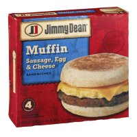 Jimmy Dean Muffin Sandwiches Sausage, Egg and Cheese Meal Size 4CT