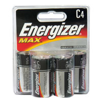 Energizer Max Batteries Size C 4CT