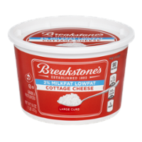 Breakstone's Cottage Cheese Lowfat 2% Large Curd 16oz Tub product image