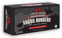 Red Hat Ranch Angus Burgers Frozen All Natural 6CT 2LB Box