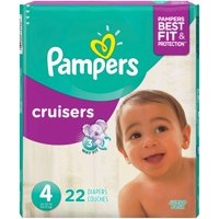 Pampers Cruisers Diapers Size 4 (22-37LB) Jumbo Pack 24CT PKG product image