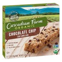 Cascadian Farm Organic Chewy Granola Bars Choc Chip 6CT 7.4oz Box