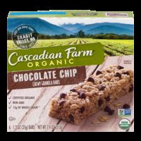 Cascadian Farm Organic Chewy Granola Bars Choc Chip 6CT 7.4oz Box product image