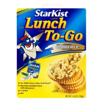 Starkist Lunch To Go White Albacore Tuna Kit in Pouch 4.1oz PKG
