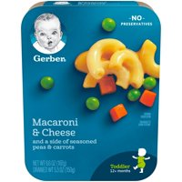 Gerber Graduates Macaroni and Cheese with Seasoned Peas and Carrots 6.6oz PKG