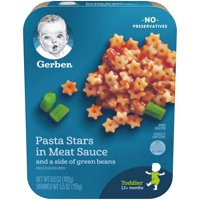 Gerber Graduates Pasta Stars in Meat Sauce with Green Beans 6.8oz PKG