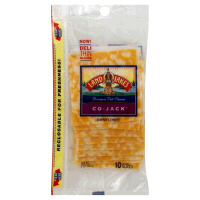Land O Lakes Sliced Colby Jack Cheese Deli Thin 10CT 8oz PKG