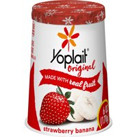 Yoplait Original Yogurt Lowfat Strawberry Banana 6oz Cup