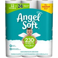 Angel Soft Bath Tissue Double Roll 2-Ply Unscented 12CT product image