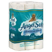 Angel Soft Bath Tissue Single Roll 2-Ply Unscented 24CT