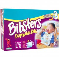 Pampers Bibsters Disposable Bibs Large 16CT