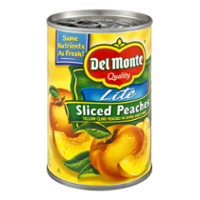 Del Monte Lite Sliced Peaches in Light Syrup 15oz Can