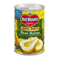 Del Monte Pear Halves in 100% Juice 15oz Can