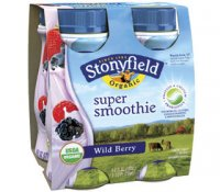 Stonyfield Farm Smoothie Wild Berry 6oz 4 Pack