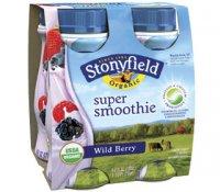 Stonyfield Farm Smoothie Wild Berry 6oz 4 Pack