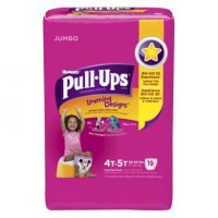 Huggies Pull-Ups Training Pants Learning Designs 4T-5T Girls Jumbo Pack 18CT