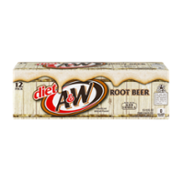 A&W Diet Root Beer 12PK of 12oz Cans