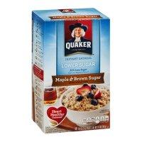 Quaker Instant Oatmeal Maple & Brown Sugar Lower Sugar 10CT of 1.19oz EA 11.9oz PKG