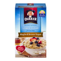 Quaker Instant Oatmeal Maple & Brown Sugar Lower Sugar 10PK 11.9oz Box