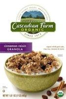Cascadian Farm Cereal Cinnamon Raisin Granola 15.6oz Box product image