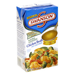 Swanson Chicken Broth 99% Fat Free 32oz. Box