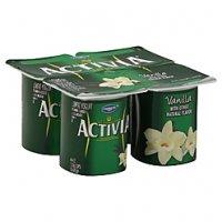 Dannon Activia Probiotic Yogurt Vanilla 4oz. EA 4PK