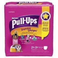 Huggies Pull-Ups Training Pants Learning Designs 2T-3T Girls Jumbo Pack 25CT