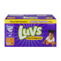Luvs Diapers Size 3 (16-28LB) 104CT
