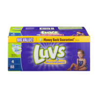 Luvs Diapers Size 4 (22-37LB) Family Pack 88CT PKG product image