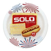 Solo Paper Plates Heavy Duty 8.5in 44CT